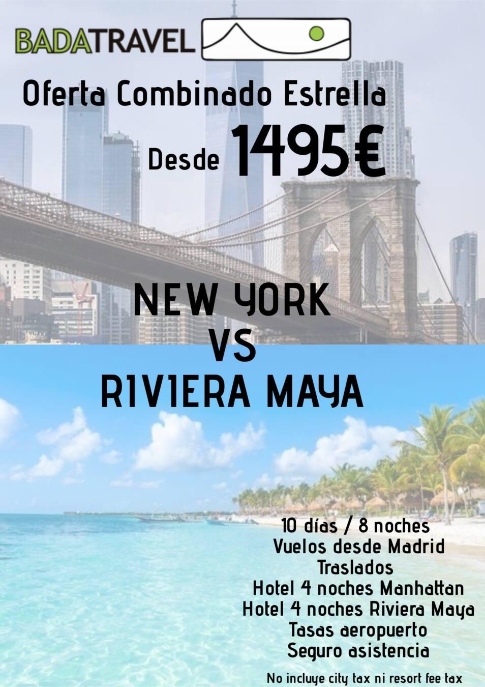 New York y Riviera Maya