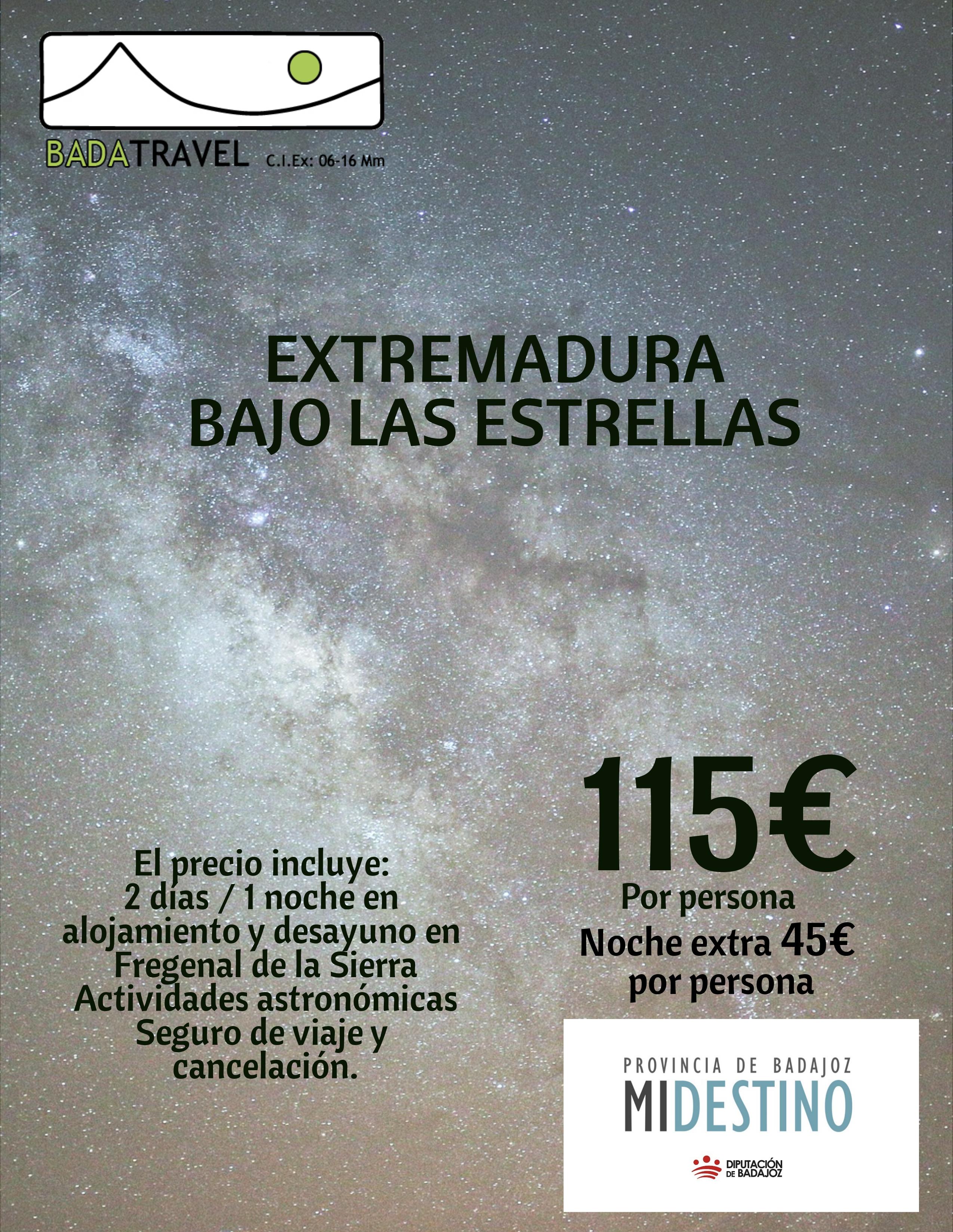 Extremadura bajo las estrellas